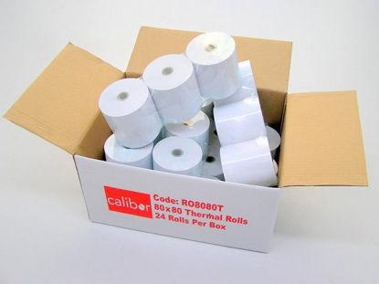 CALIBOR THERMAL PAPER 80X80 24 ROLLS/BOX