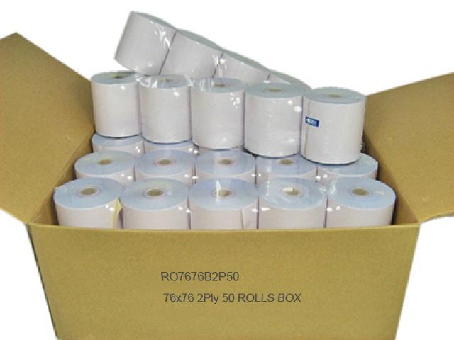 CALIBOR 2PLY PAPER 76X76 50 ROLLS/BOX PLAIN
