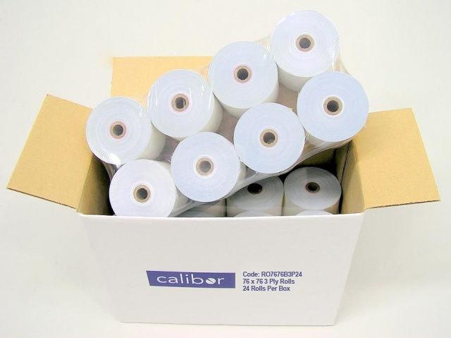 CALIBOR 3PLY PAPER 76X76 24 ROLLS / BOX