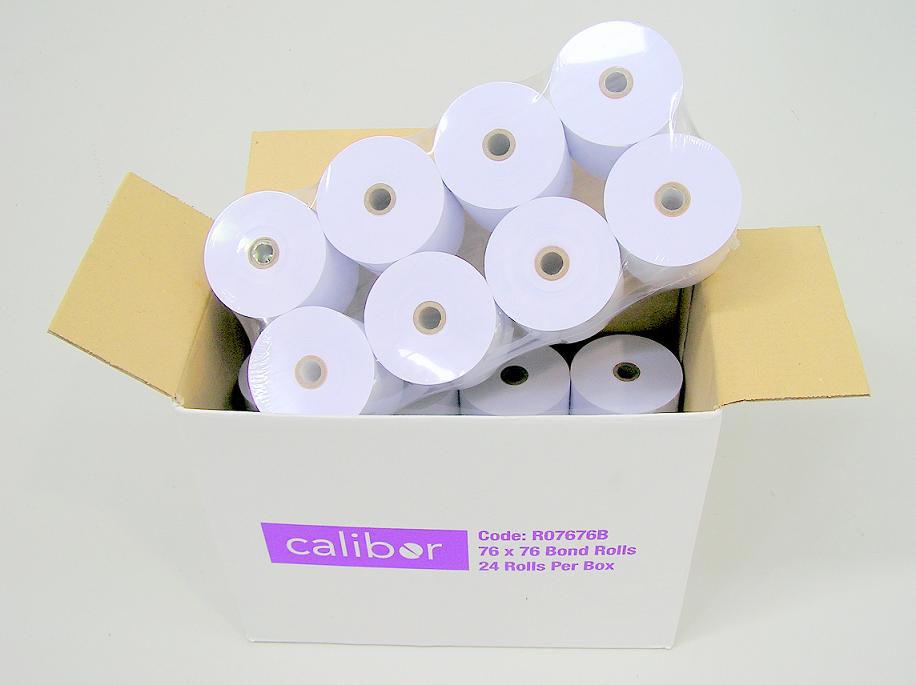 CALIBOR 2PLY PAPER 76X76 24 ROLLS / BOX