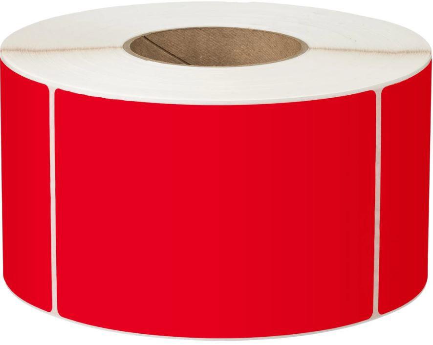 LABEL PLAIN PERM 76X48 1AC 3000/R 76MM RED